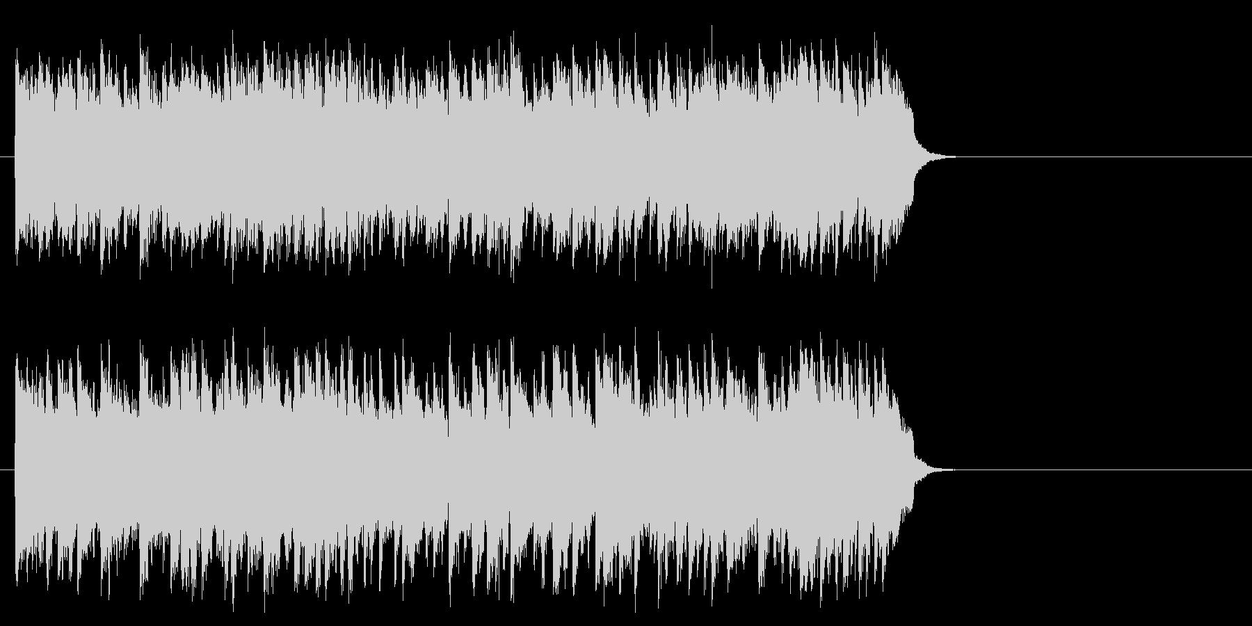 滑らかなピアノのバラード(サビ)の未再生の波形