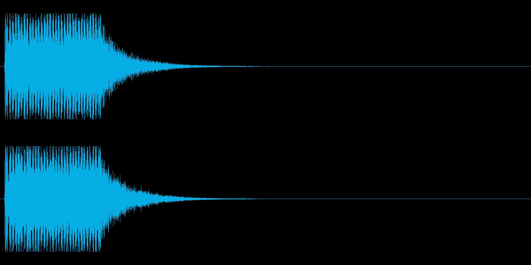 レーザー音-152-1の再生済みの波形
