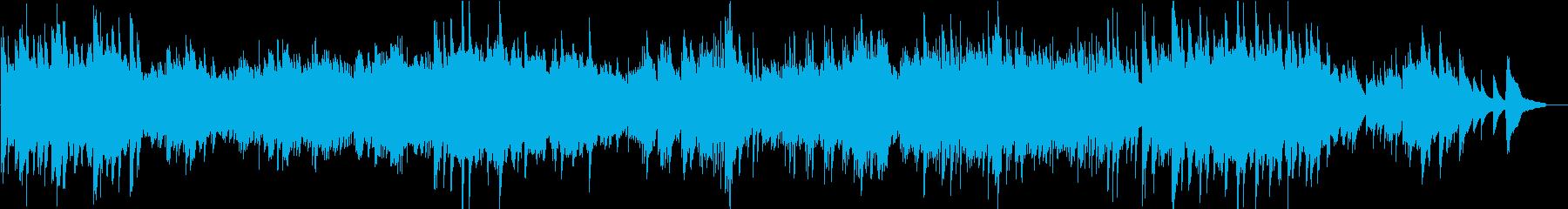 森の中で深呼吸しているような曲の再生済みの波形