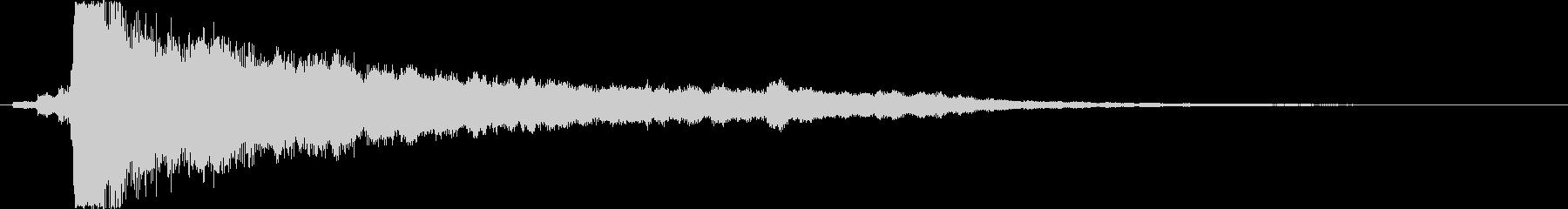 キラーン(アルペジオ効果音)1の未再生の波形