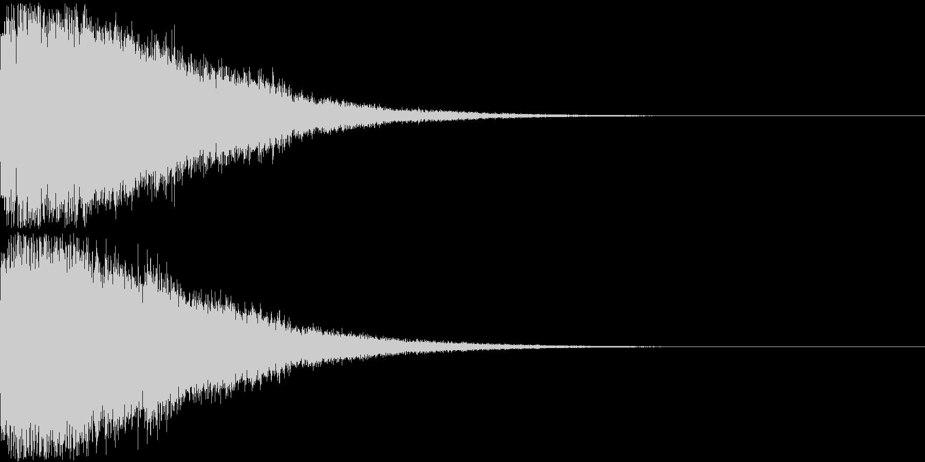 刀 剣 ソード カキーン キュイーン23の未再生の波形