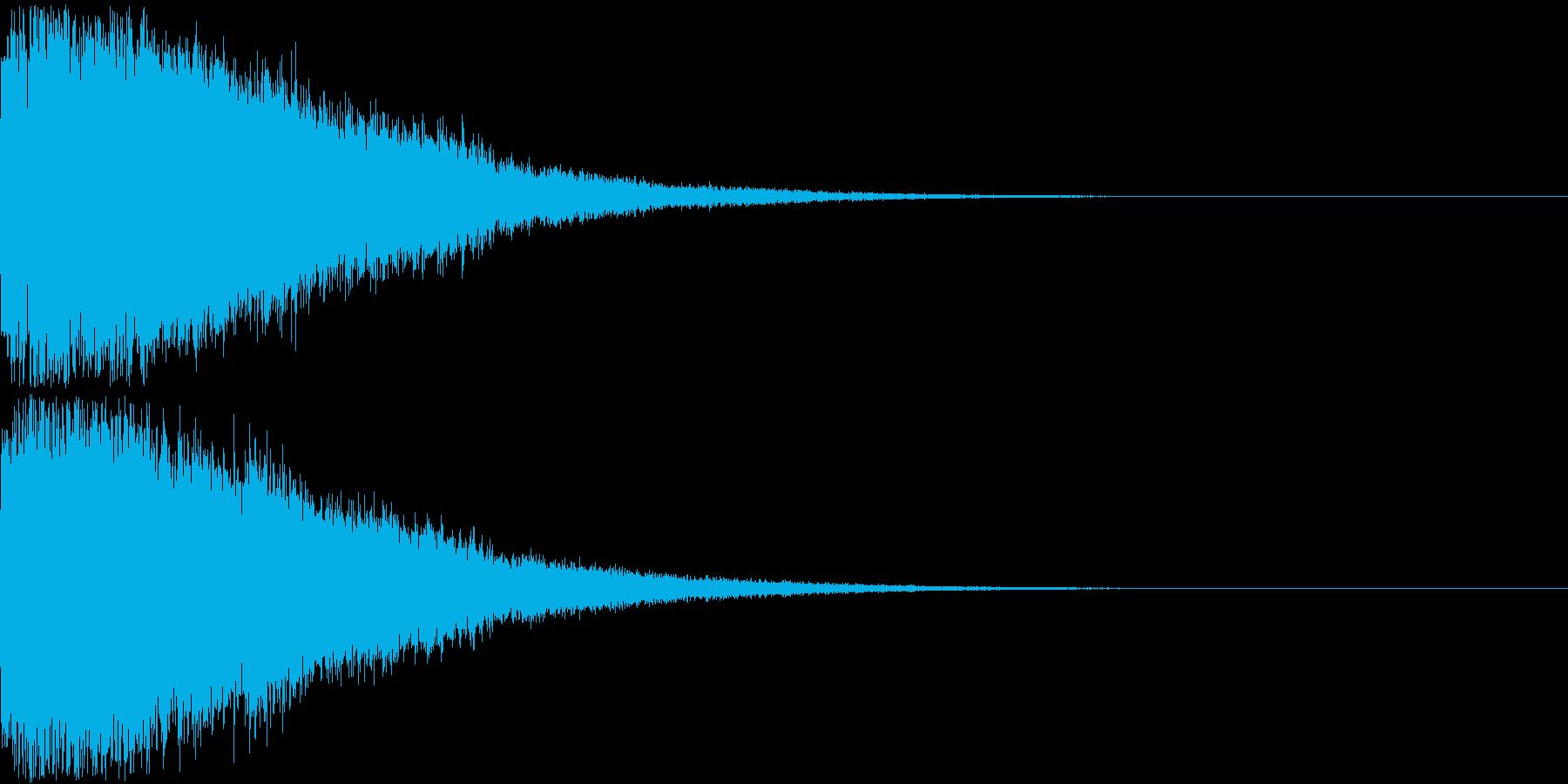 刀 剣 ソード カキーン キュイーン23の再生済みの波形