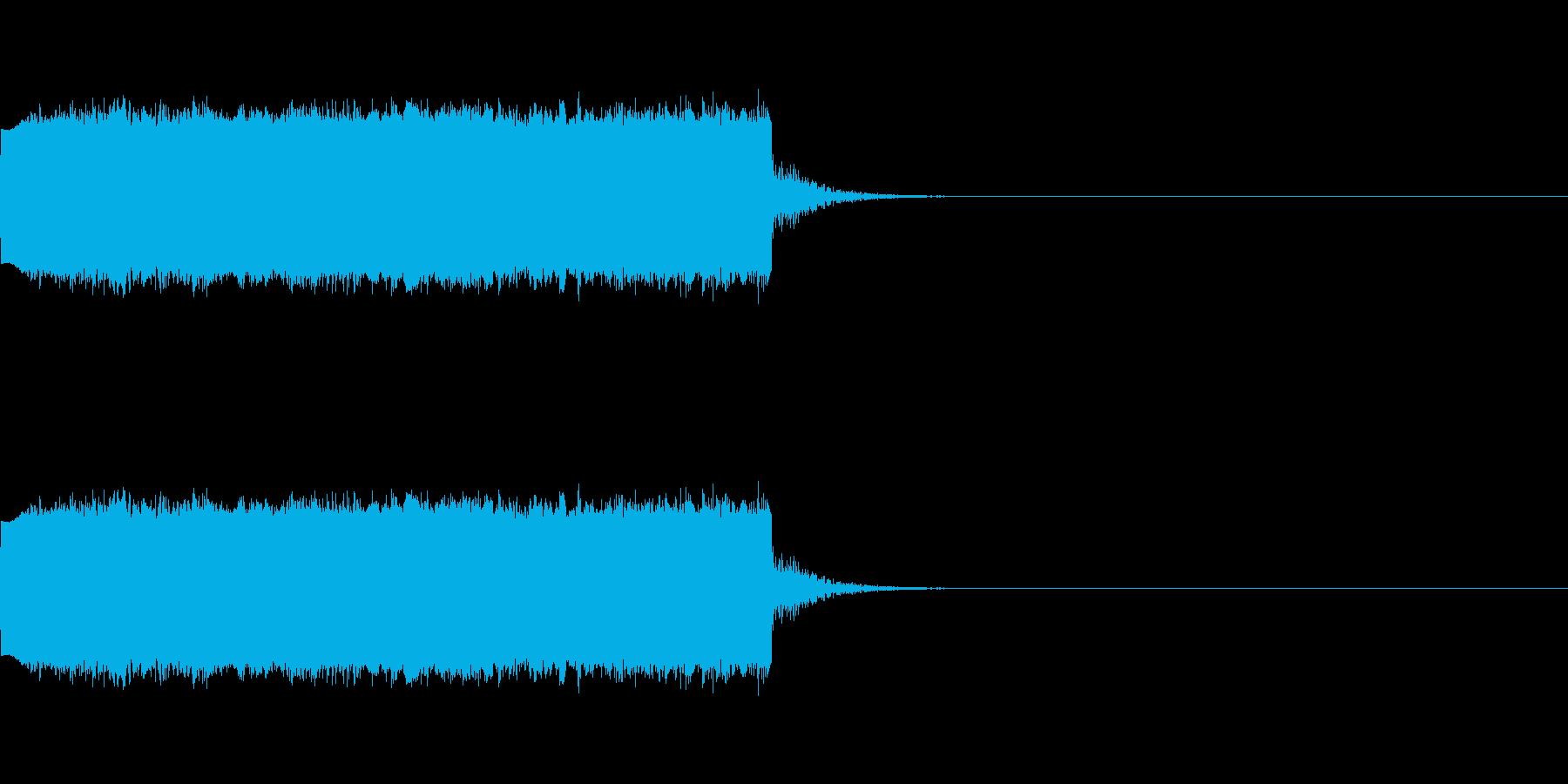 SF風効果音の再生済みの波形