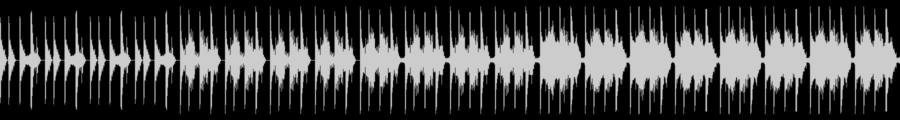 ミステリアスなテクスチャBGMの未再生の波形