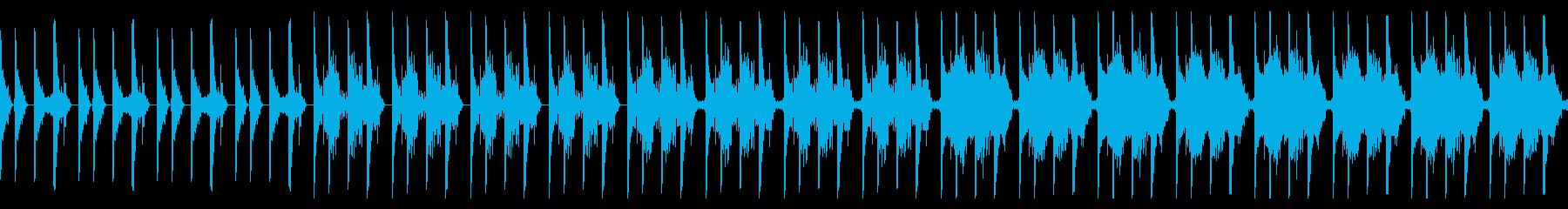 ミステリアスなテクスチャBGMの再生済みの波形