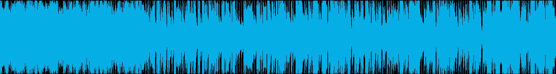 Rap用トラックの再生済みの波形