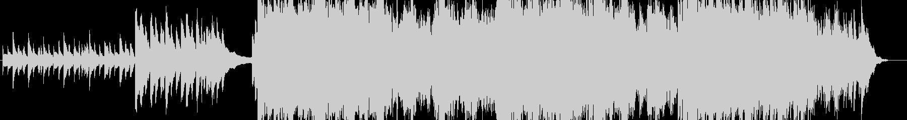 ピアノの旋律が特徴的なBGM:黄昏時の未再生の波形