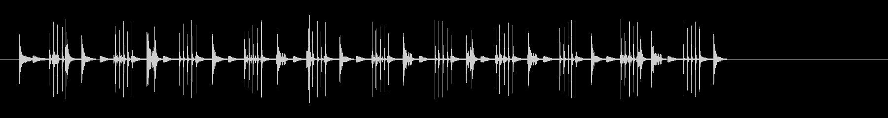 ビープ音の楽しいマシンの未再生の波形