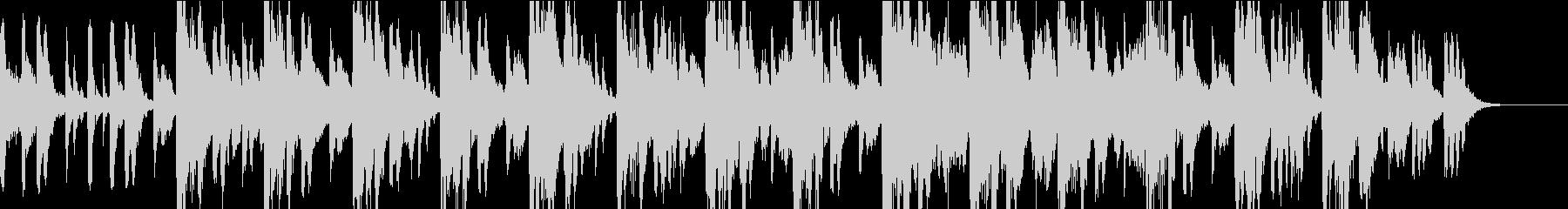 ジャズをバックにブラスが吠えるジングルの未再生の波形