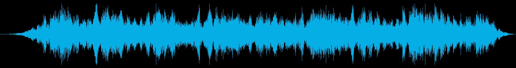 スペースドローン:深呼吸と渦巻きの再生済みの波形