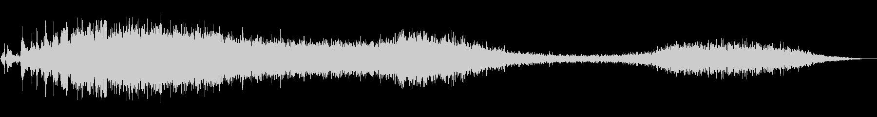 ピアシングレーザーザップ4の未再生の波形