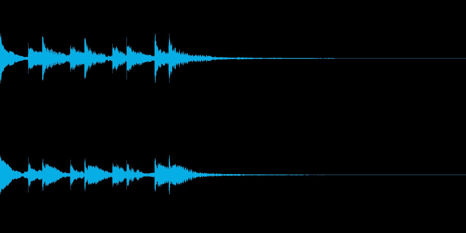ほのぼの落ち着いたジングル 木琴鉄琴の再生済みの波形
