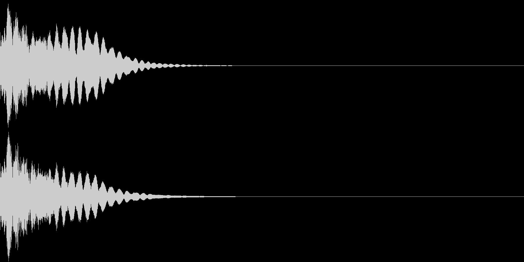 キュイン ボタン ピキーン キーン 26の未再生の波形