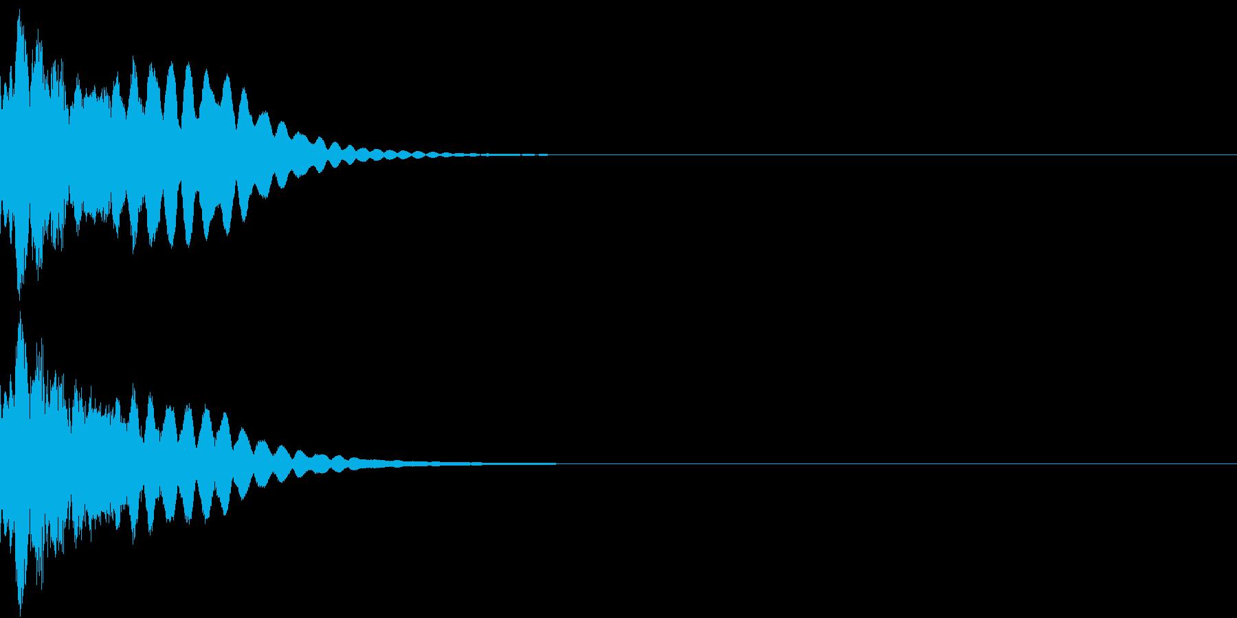 キュイン ボタン ピキーン キーン 26の再生済みの波形