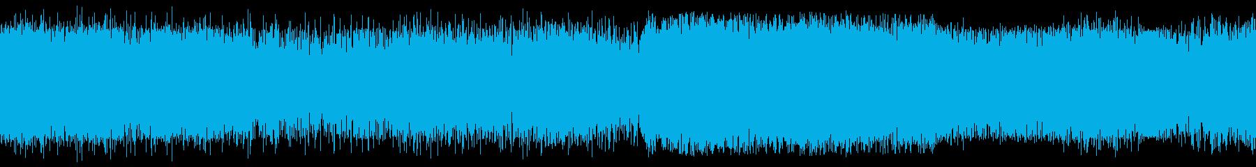 小型飛行機(セスナ)の着陸時の音の再生済みの波形