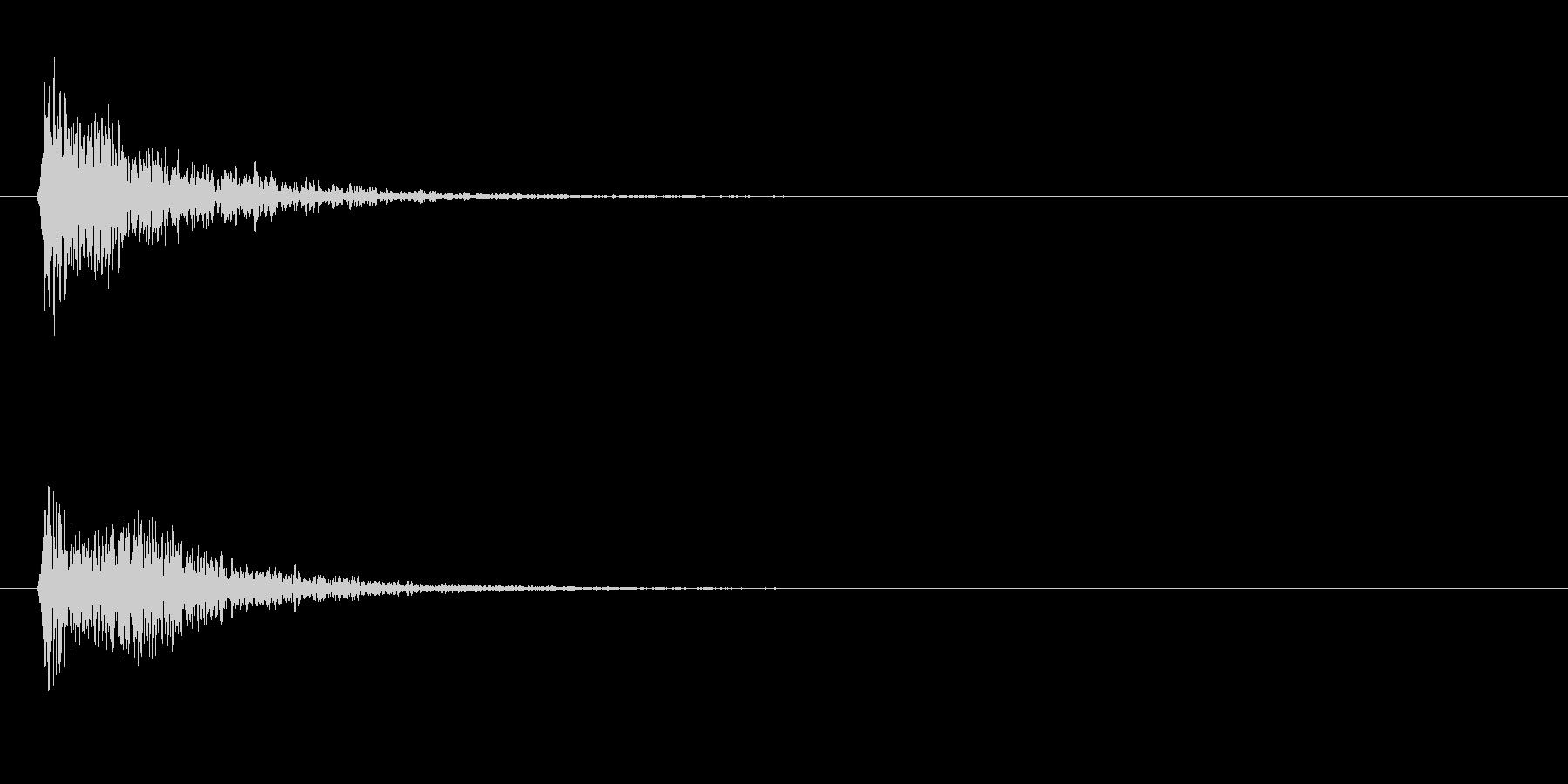 漫画のボンボインの未再生の波形