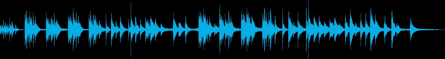 アートな雰囲気のピアノ曲の再生済みの波形