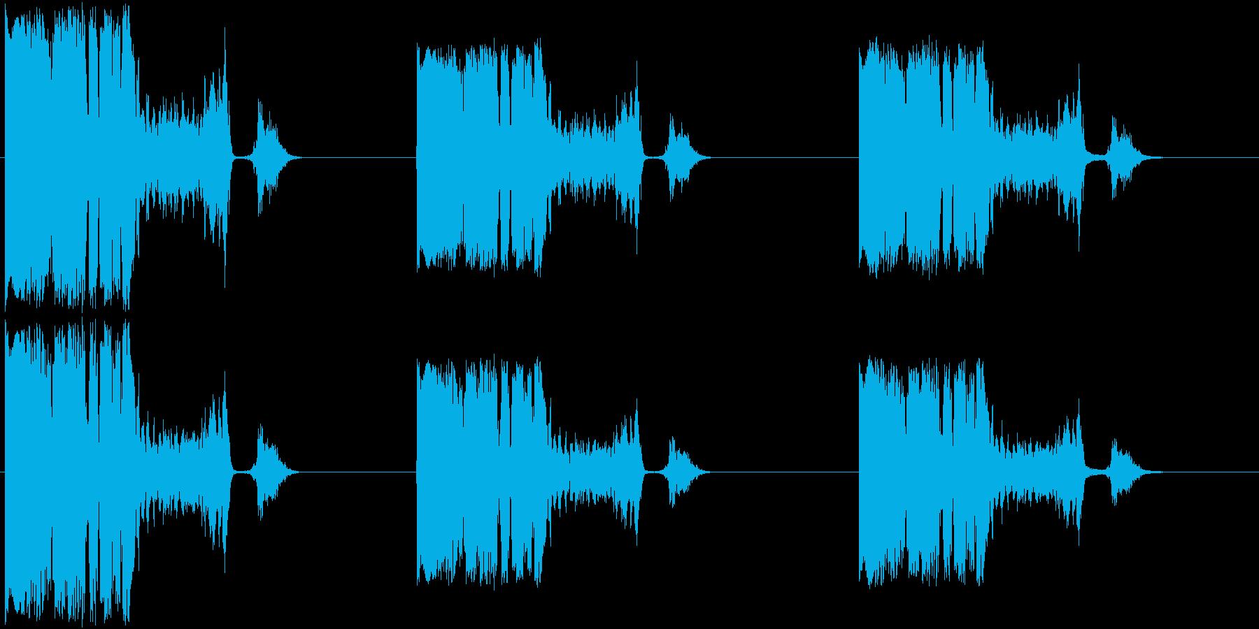スイッチ、モータースタート付きラフ...の再生済みの波形