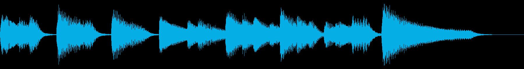 【ジングル】軽快で明るいピアノソロの再生済みの波形