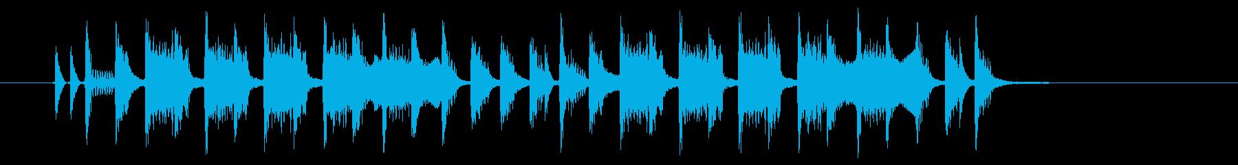 楽しげでコミカルなシンセサウンドの再生済みの波形