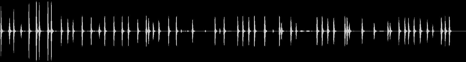DOG BARKING 5、屋内、...の未再生の波形