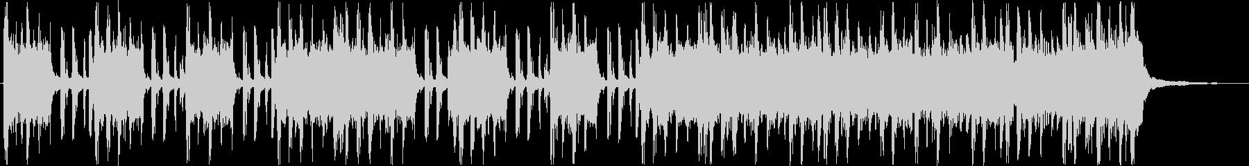 重低音がカッコいいハードロック調の曲の未再生の波形