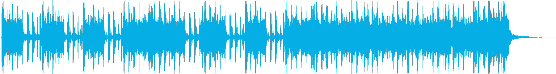 重低音がカッコいいハードロック調の曲の再生済みの波形