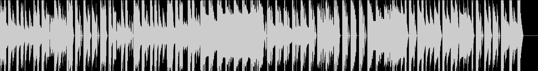 チップチューンのコミカルなオープニング曲の未再生の波形