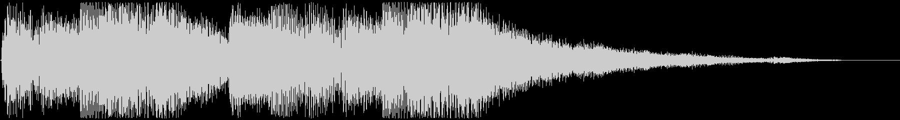 Flowing piano sound logo's unreproduced waveform