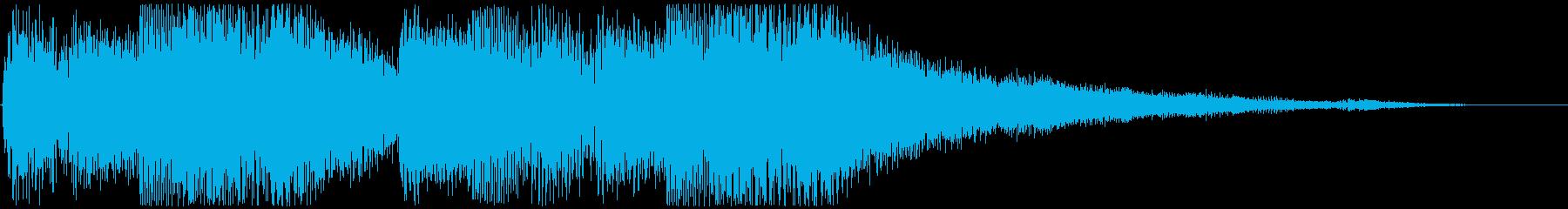 Flowing piano sound logo's reproduced waveform