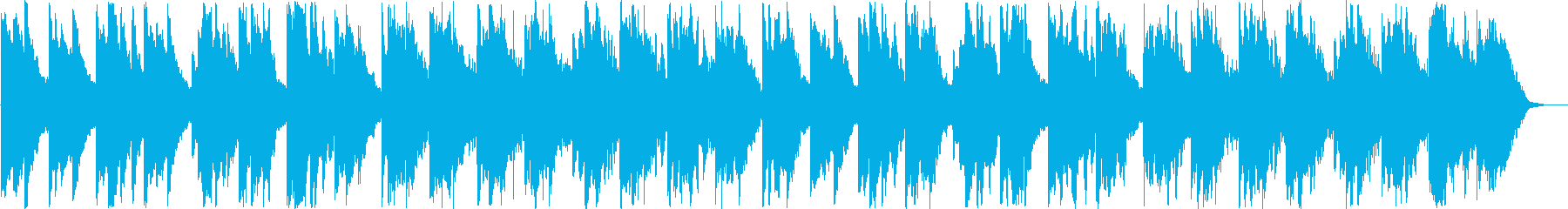 優しいシンセサイザーサウンドの再生済みの波形