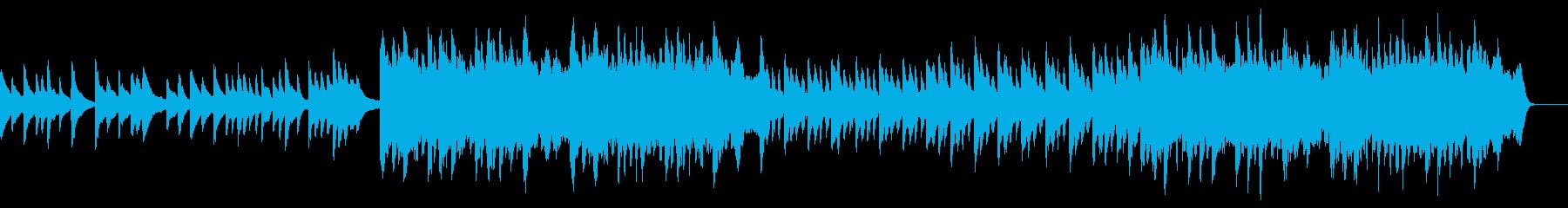 悲しい事を思い出す時の切ないピアノ曲の再生済みの波形