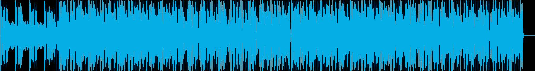 シンセ、ピアノをフィーチャーしたEDMの再生済みの波形