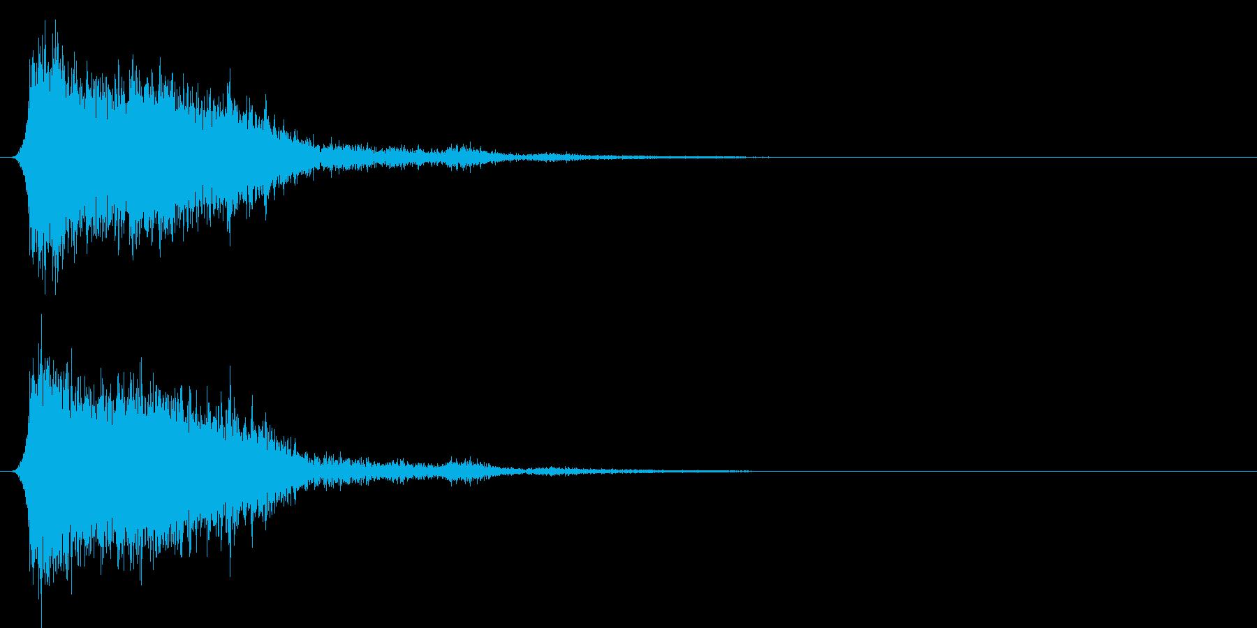 コミカルなダッシュ!ジャンプの効果音4cの再生済みの波形