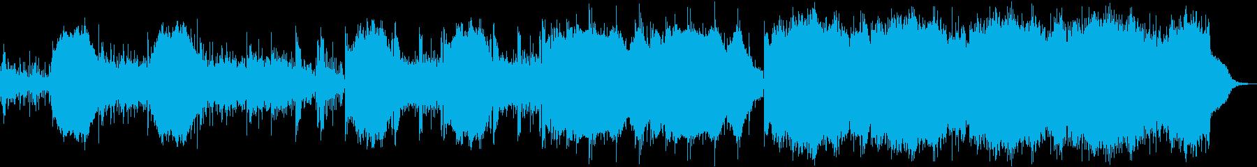 近未来感溢れるテクノミュージックの再生済みの波形