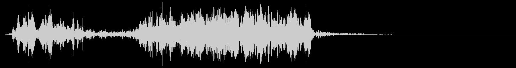 薄い文字化けスイープの未再生の波形