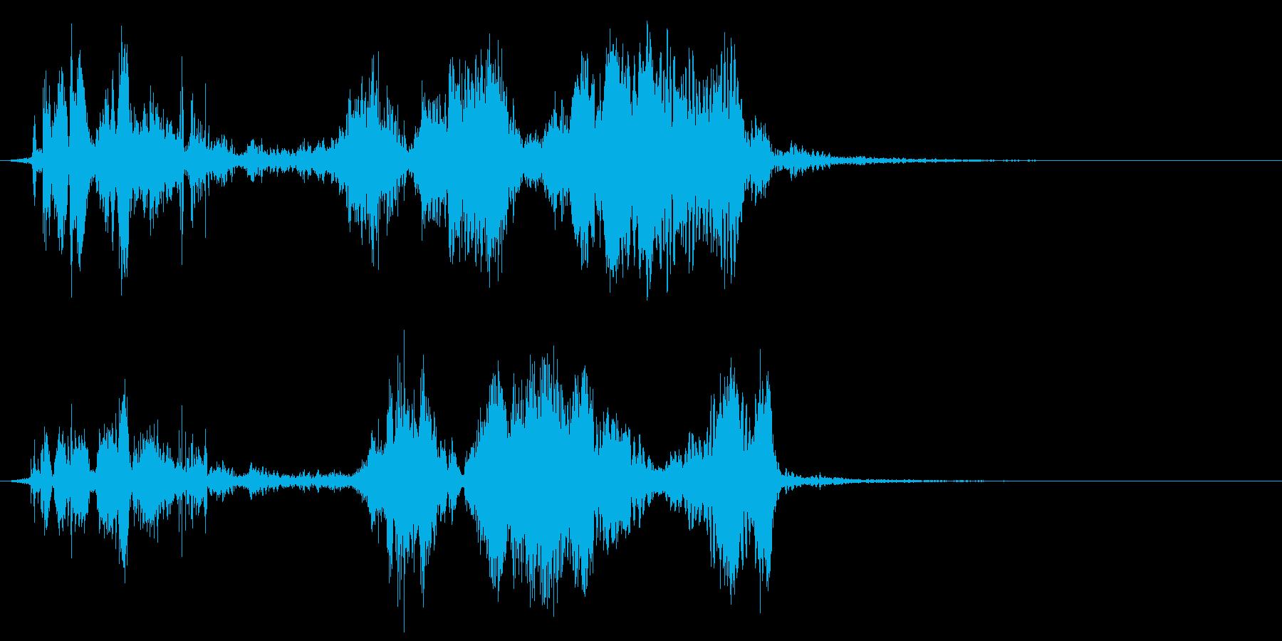 薄い文字化けスイープの再生済みの波形