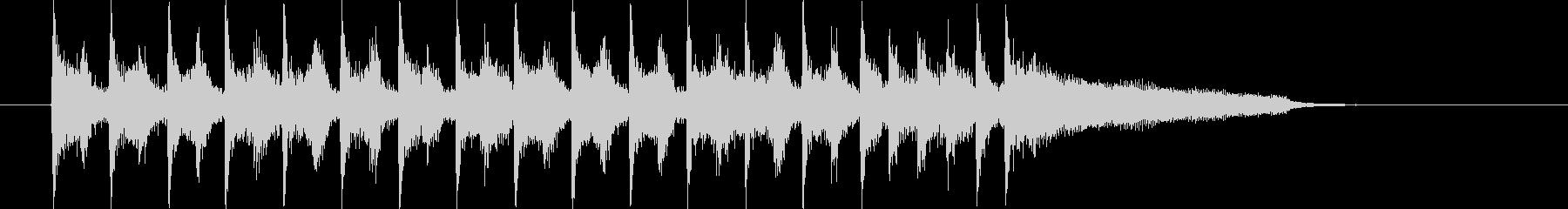 ストリングスが特徴のポップなジングル曲の未再生の波形
