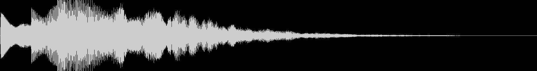 シリアスなスタートボタン音の未再生の波形