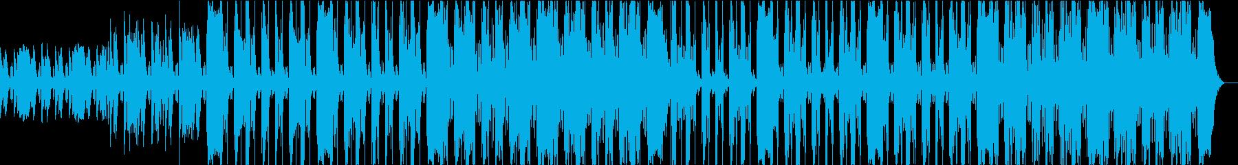 緊迫感のあるヒップホップトラックの再生済みの波形