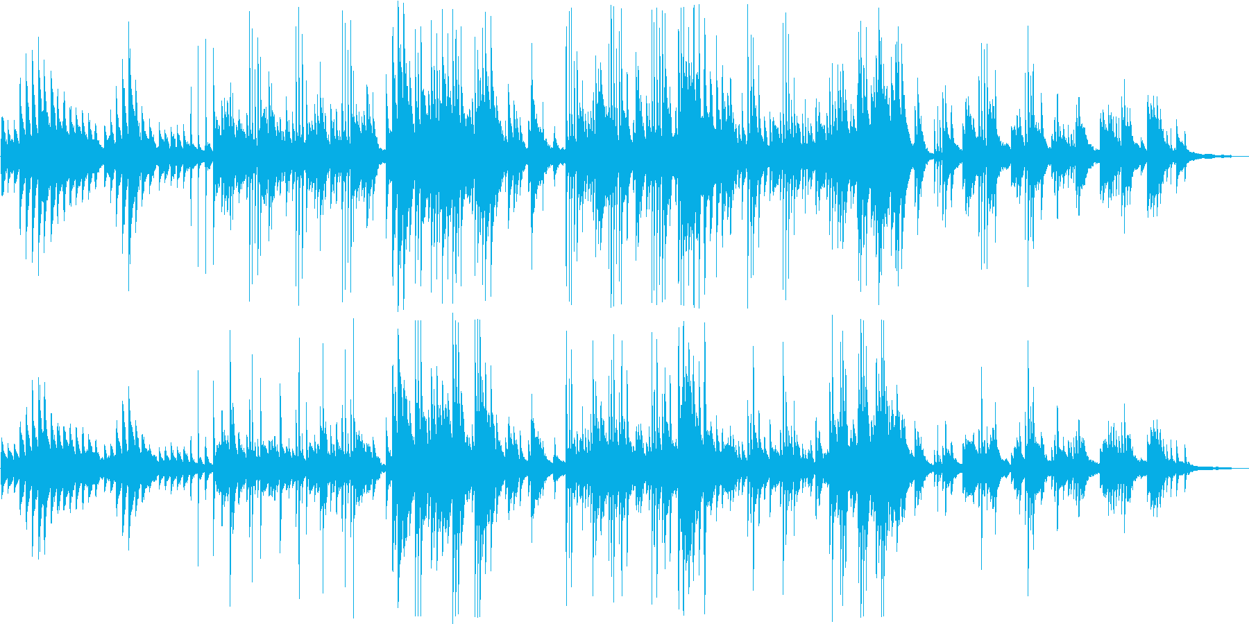 しっとりとした大人のピアノバラードの再生済みの波形
