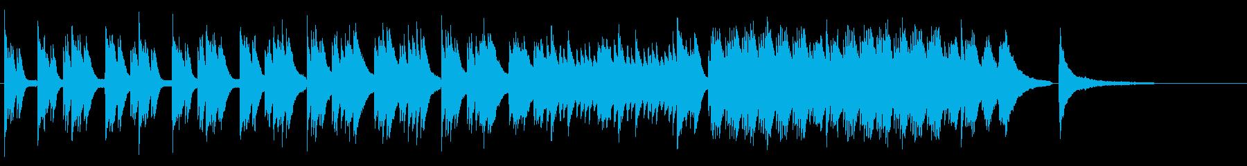 企業VP 爽やかな使いやすいピアノソロの再生済みの波形