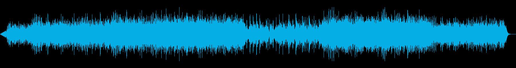 チェロとシンセがメロディの落ち着く曲の再生済みの波形