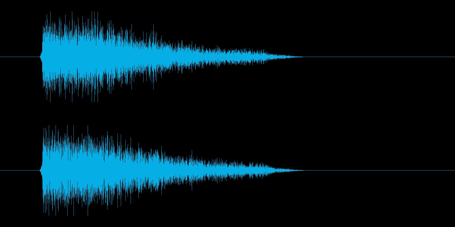 レーザー音-90-3の再生済みの波形