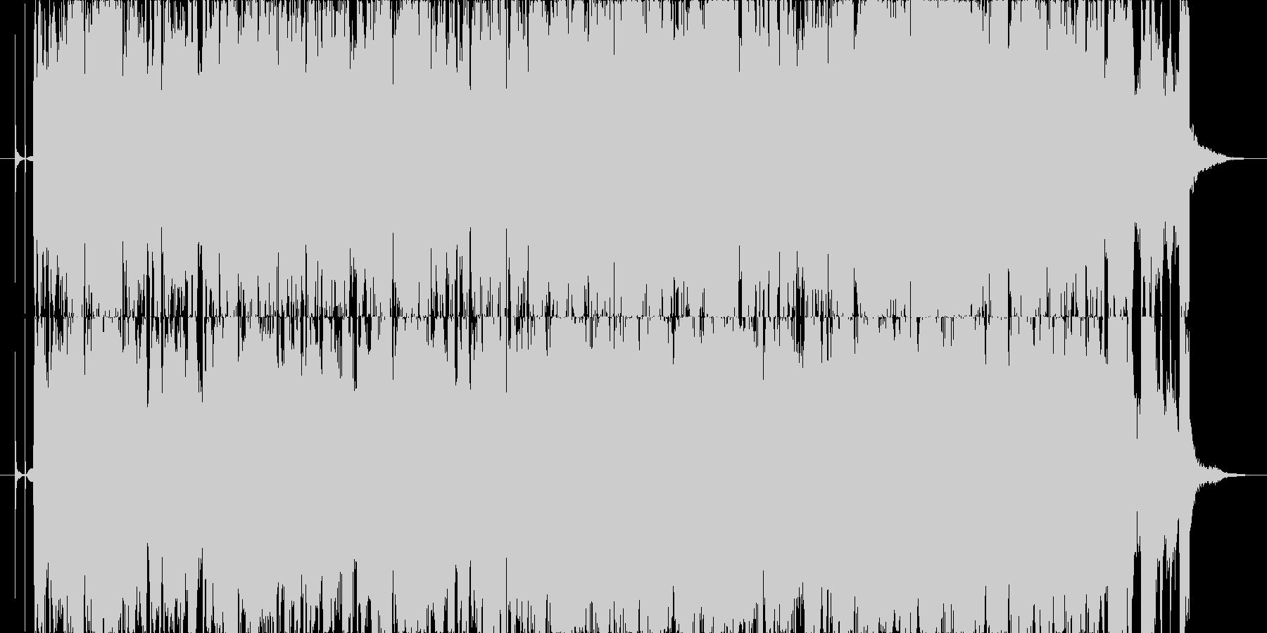 ギターメインのオシャレな曲の未再生の波形