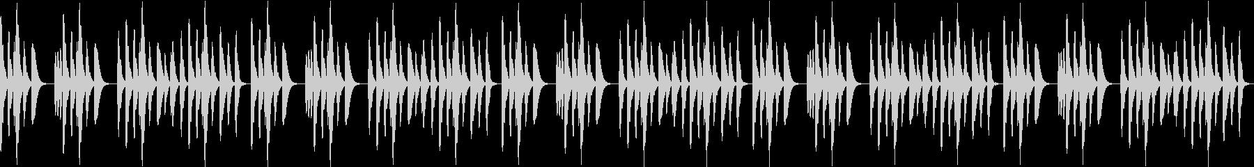 ほっこり穏やかで落ち着いたループ音源の未再生の波形