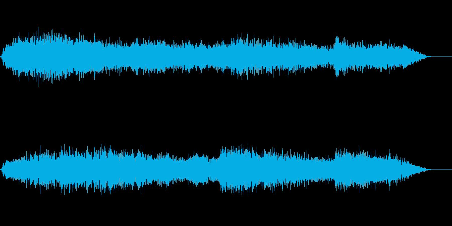 兵士の進撃の閧の声の再生済みの波形