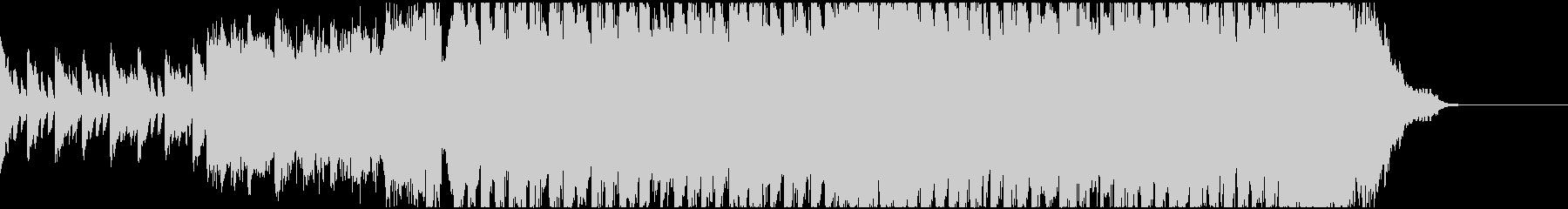 ミステリー系ドラマオープニング風BGMの未再生の波形