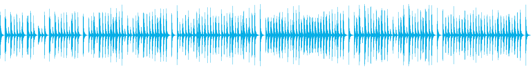 ゲームや動画向けゆるい日常系木管三重奏の再生済みの波形