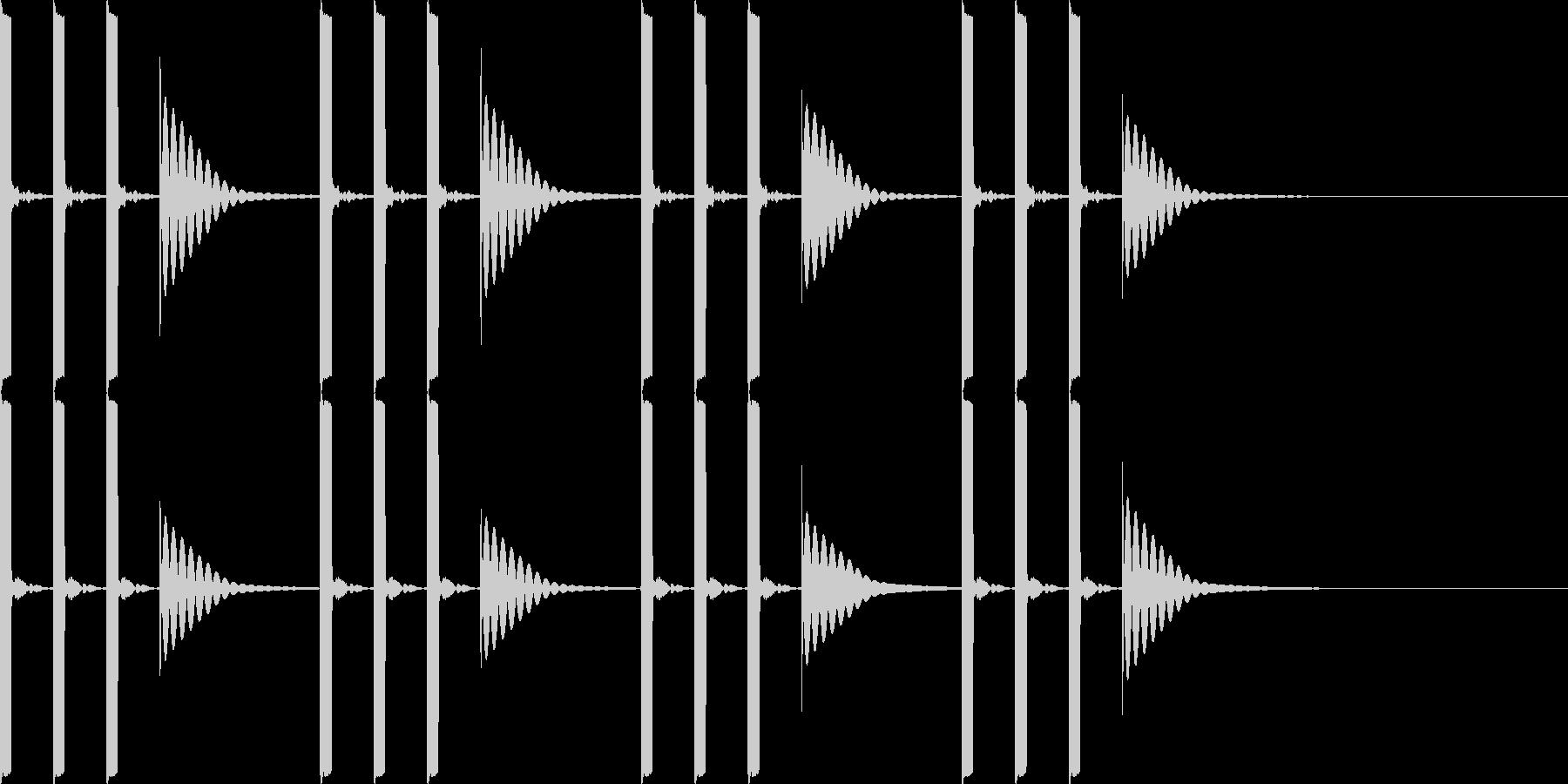 ピッ ピッ ピッ ポーンの未再生の波形